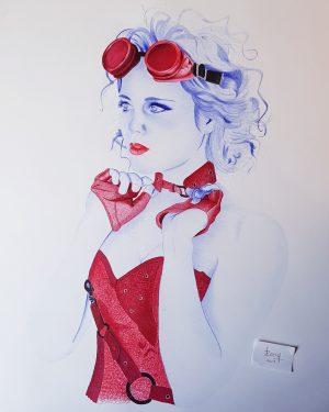 Una muestra del talento del arte de Rony Valle artista hondureño en girona